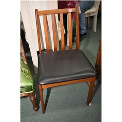 Mid century modern slat back side chair