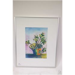 """Three paintings by artist G. Kubac including two framed watercolours, a wooded cottage 11"""" X 17"""", a"""
