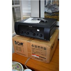 Bom M850 vacuum tube stereo integrated amplifier with original manual, remote and box, untested at t