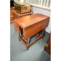 Vintage maple drop leaf table made by Krug