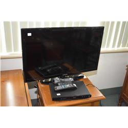 "Samsung 32"" flat screen television with remote, model no. UN32D4001BD, serial no. Z44N3C6C101607R pl"