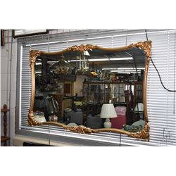 "Gilt framed wall mirror, overall dimensions 49"" X 33"""