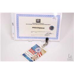 Authentic television production PrisonBreak Paul Kllermann Secret Agent staff badge-SS1 with 20th Ce
