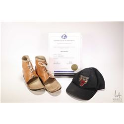 """Authentic movie props from 1998 """"The Mighty"""" including Max's ( Eldon Henson) aged Chicago Bulls cap"""