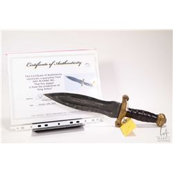 Authentic King Arthur movie prop dagger with Hat In Hands Inc. certificate of authenticity