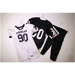 Authentic movie props from the Friday Night Lights including two Christian's #90 game jerseys and on