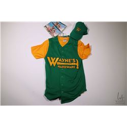 Authentic movie prop from The Benchwarmers including Wayne's Hardware basball jersey, shorts and yel