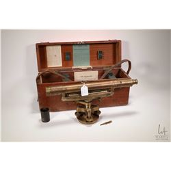 "Antique ""The Telescope"" American made transit C.L. Berger & Sons, Boston USA, note appears to have b"