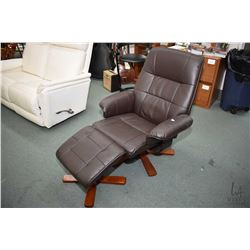 New retro mid century style parlour chair and ottoman