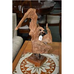 "Vintage drift wood sculpture 21"" in height"
