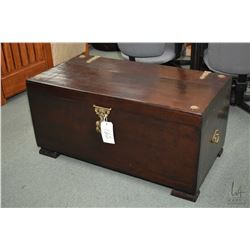 Modern antique style lift lid chest with cast hardware