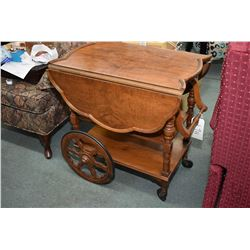 Vintage drop leaf tea wagon sans tray or drawer