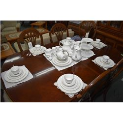 """Selection of Royal Albert china tableware """"Chantilly"""" including eight each of dinner, luncheon, brea"""