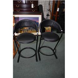 Pair of matching metal based breakfast stool