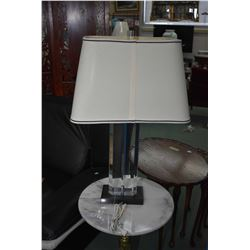 Modern acrylic table lamp with shade