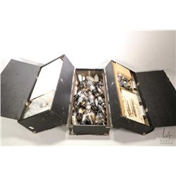 Zenith Tubes-Part black serviceman's box containing large selection of loose untested tubes and a ca
