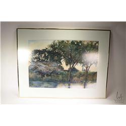 "Framed original watercolour painting labelled on verso "" White-Thorn Tree, Ngirvane, Kruger National"