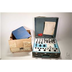 Selection of radio repair equipment including Dyna-Jet model 707 tube tester, Meissner Analysist B&K