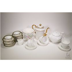Aynsley tea set including teapot, six cups saucers and creamer plus six Limoges Greek key designed r