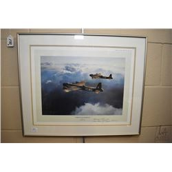 "Framed limited edition print ""Stirling Outward Bound"" hand signed by group captain Hamish Mahaddie"