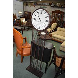 """Floor standing wrought iron decor clock 60"""" in height"""