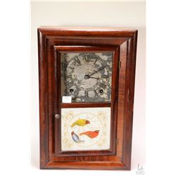 "Vintage eight day mantle clock by Seth Thomas in wooden case, overall dimensions 16"" X 11"", working"