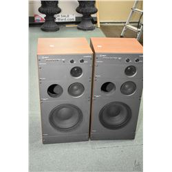 Pair of vintage Wharfedale Mach 7 stereo speakers, working at time of cataloguing. Note: No Shipping
