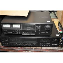 Two Telefunken audio components including a HC 3000 High Com cassette player serial no. L994892 and