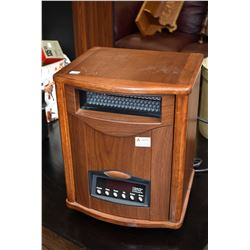 Comfort Furnace infrared heater, model CF1500 UV-WT, one castor needs replacing