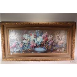 Gilt framed giclee print of a still-life . Note: No Shipping. Local Pickup Only