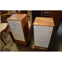 Pair of walnut cased Dynaco stereo speakers, not tested