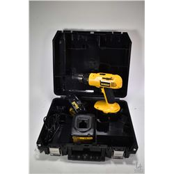 """Dewalt 18 volt 1/2"""" drive cordless drill with extra battery, charger and case, tested and working"""