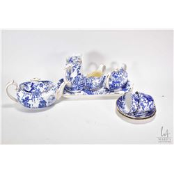 "Royal Crown Derby ""Mikado"" tea service including tea pot, hot water pot, lidded sugar and cream jug"
