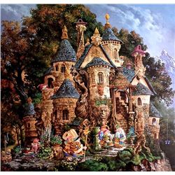 """Folio containing limited edition print """"College of Magical Knowledge"""" by James C. Christensen, 3530/"""
