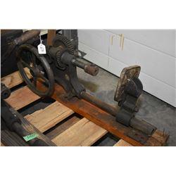 Antique hand crank wall mount drill press, missing crank