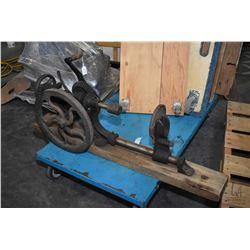 Antique hand crank wall mount drill press