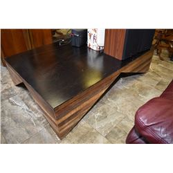 "Large custom made mid century modern design coffee table 63"" X 43"""