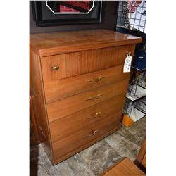1950's retro five drawer highboy