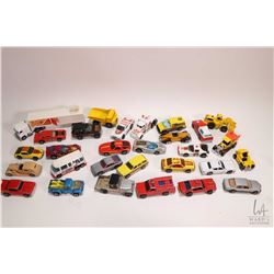 Selection of vintage Hot Wheels etc. including Hot Wheel's Racing Team Truck, Mirada Stalker, Motorh