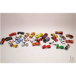 Selection of Hot Wheels cars including Minitrek, pumper truck, Hot Bird, Old No. 5 etc.