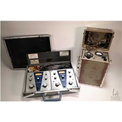 Marconi Portable Transmitter/ Receiver in self contained box and Audiotone test equipment including