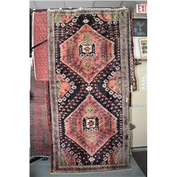 100% handmade Iranian carpet with double medallion, stylized florals and animals, triple border, roy