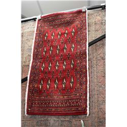 100% handmade Iranian area carpet with center medallion, overall floral and red background with high