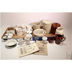 Selection Canadian stoneware including Medalta, RedCliff etc. several small creamers, small spooners