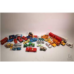Two tray lot of cars and trucks including Corgi, Match Box, Tonka etc.