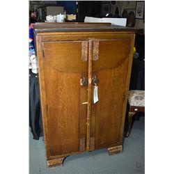 1930's English oak two door wardrobe- needs tlc