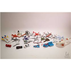 Selection of die cast airplane and spaceships including a Dinky USS Enterprise, Match Box space shut