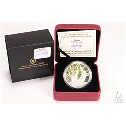 Cased Royal Canadian Mint 2013 fine silver $20 Canadian Maple Canopy ( Spring)