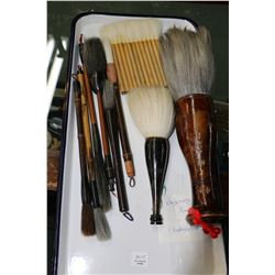 Selection of calligraphy, Sumi and Kanja brushes