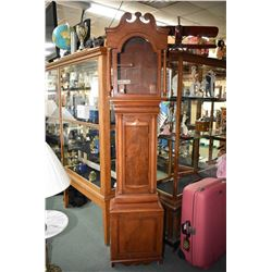 Antique Victorian mahogany empty long case clock case
